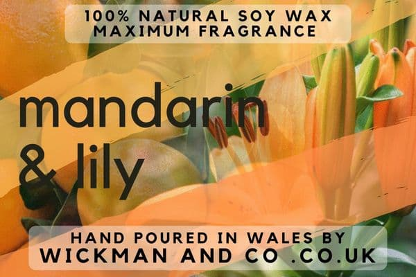 Mandarin & Lily Soy Wax Candle